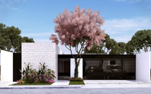 Hermosas Casas De Una Planta En Pre -venta Al Norte De Mérida, Leonora C1 Arteva