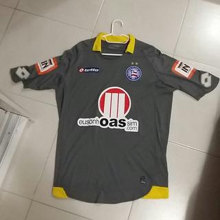 Camisa Bahia Lotto Goleiro Cinza Oficial Tam Gg De Coleção!