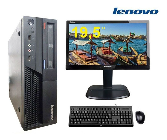 Computador Lenovo 4gb Ssd 120gb + Monitor 19,5 Refubished