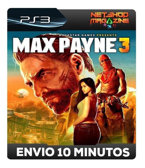 Max Payne 3 - Psn Ps3 - Envio Imediato