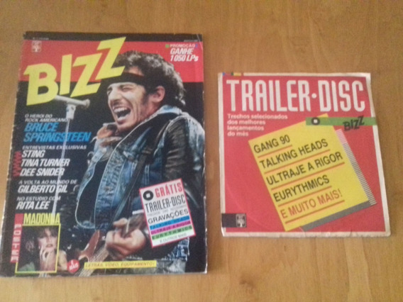 Revista Bizz Numero 1 Agosto 1985 Com Disco Trailer Disc