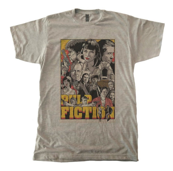 Playera Ringer Pulp Fiction Poster A Quentin Tarantino Film
