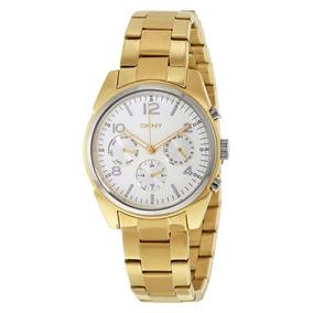 Relógio Luxo Feminino Dkny Donna Karan Dourado Ny2471/4kn