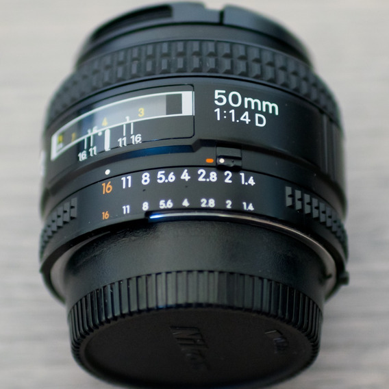 Lente Nikon 50mm F/1.4d Fx Af Nikkor (seminova)