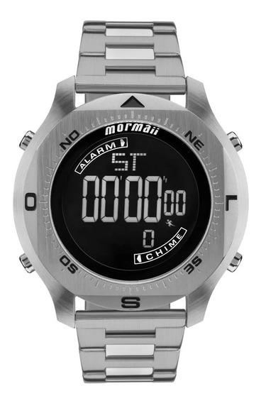 Relógio Mormaii Masculino Acqua Pro Prata Mo11273c/1p