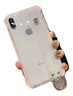 Funda iPhone Antiderrapante C/ Sujetador Anticaída + Mica 9h