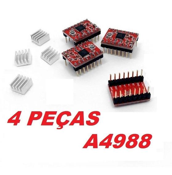 4 Driver Motor De Passo A4988 Arduino, Pololu, Ramps