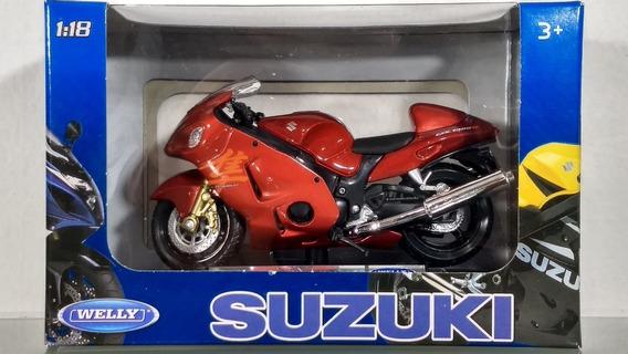 Moto Suzuki Hayabusa Welly Coleccion Escala 1/18 La Plata