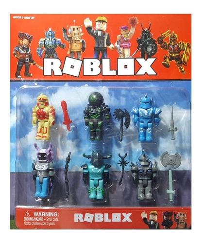 Roblox Set X 6 Personajes! 7cm + Armas!