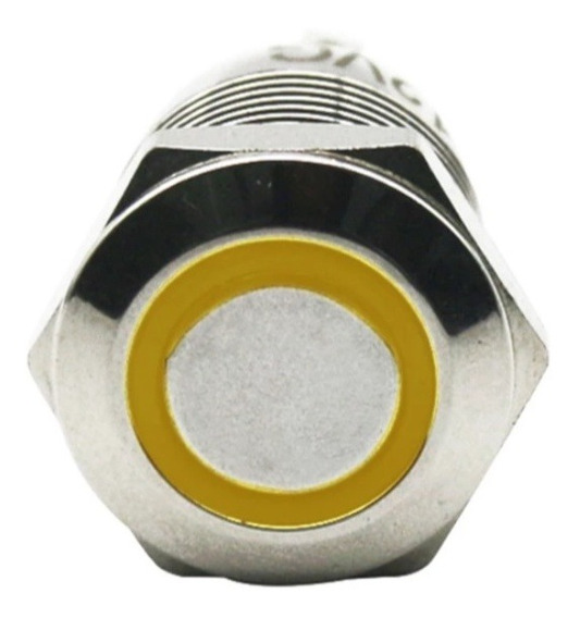 Botão Start Pulso Liga Pc 12v 12mm Inox Led Reset