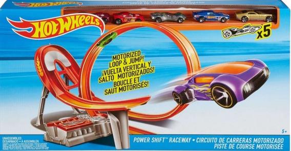 Pista Hotwheels Edición Especial Con 5 Carro