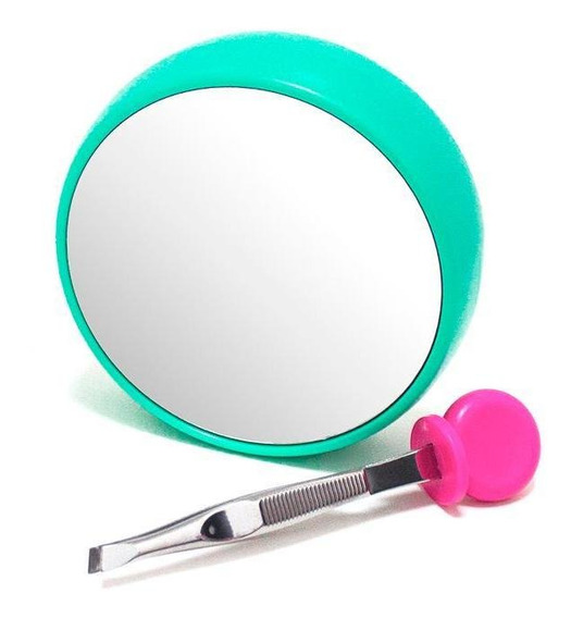 Espejo Compacto Con Pinzas Para Depilar Y Aumento 12x Conair