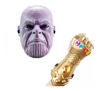 Combo Mascara Thanos Infinity War C/luz + Guantelete Puño