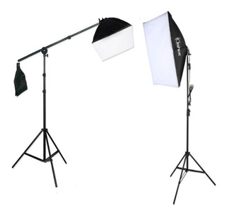 Kit Softbox Iluminacion Fotografia Video Boom