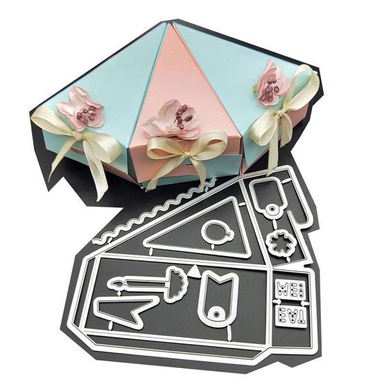 Suaje Caja Triangular Rebanada Scrapbook Sizzix