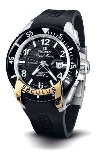 Reloj Seculus 3441.7.2824 Sil Ssy Para Caballero Correa De Caucho