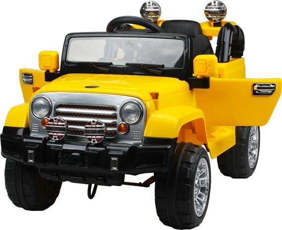 Jipe Carro Elétrico 12v Infantil Amarelo Controle Rem Belfix