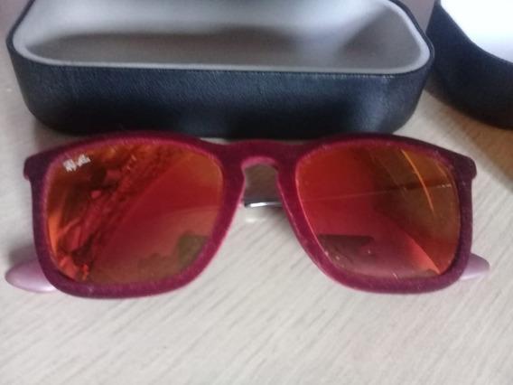 Óculos De Sol Ray Ban Chris Velvet Rb4187 6078/6q Acetato