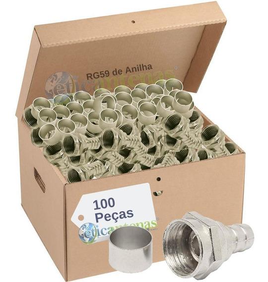 Conector Rg59 De Anilha (pacote Com 100)