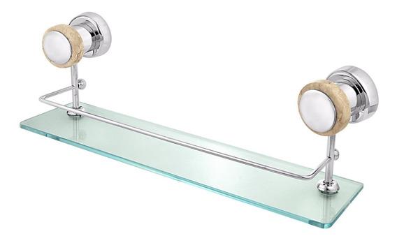 Porta Shampoo Simples Metal Saturno Travertino Forusi 0077