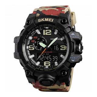 Reloj Hombre Skmei 1155 Camuflado Deportivo Sumergible 50m