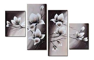 Wieco Art Elegant Blooming Flowers Pinturas Al