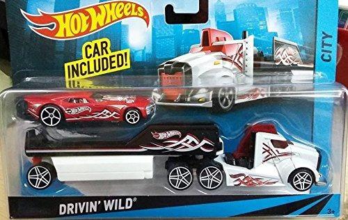 Hot Wheels City Rig Drivin Wild Semi Y Remolque Con Nitro Co