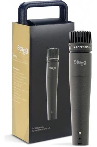 Imagen 1 de 2 de Micrófono Dinámico Pro Para Instrumentos Stagg Sdm70