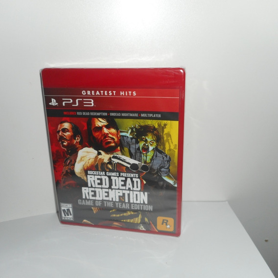 Red Dead Redemption Game Of Year Ed.ps3 Mídia Física Lacrado