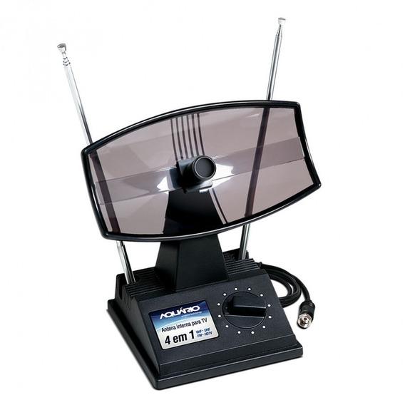 Antena Interna Para Tv Aquário Tv-350 Mini Parabólica Vhf/uh