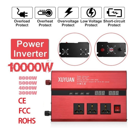 Inversor Solar Xuyuan 10.000w 12v 110v 60hz Pronta Entrega