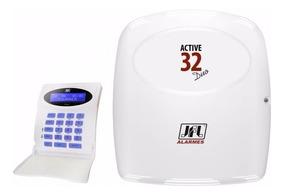 Central Alarme Monitorada Jfl Active 32 Duo Sem Fio 868 Mhz