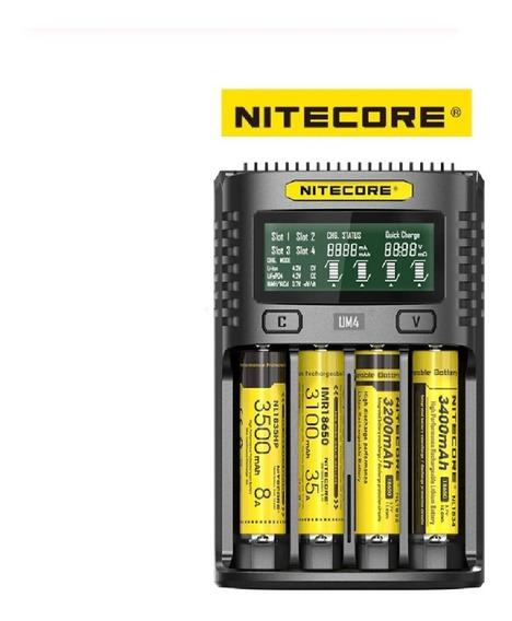 Carregador Inteligente 4 Slot Nitecore Multifunção Usb Top