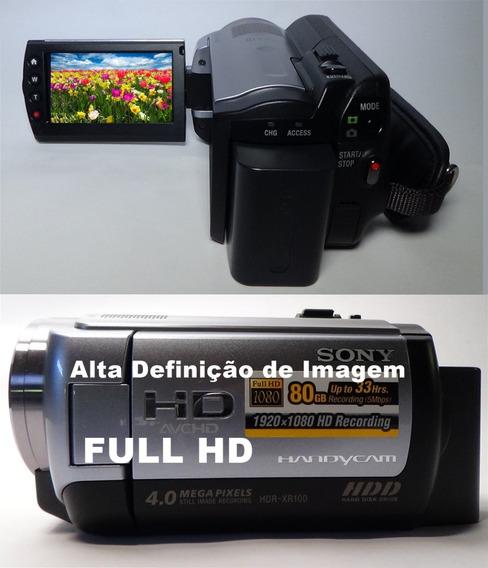 Filmadora Sony Hdr-xr100 Full Hd Alta Definição De Imagem