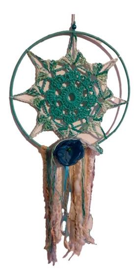 Atrapasueños Crochet Grandes Atrapasueño Mandala Verde