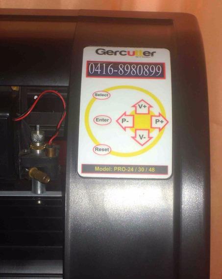 Plotter De Corte Gercutter Pro48 1,30 Mts + Extras