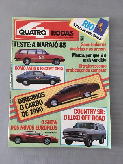Revista Quatro Rodas - Dezembro 1984 - Nº 293 Ferrari Escort