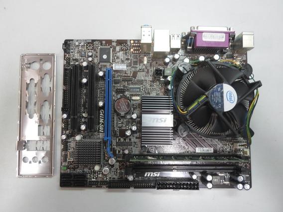 Kit Placa Mãe 775 Msi G41m-s01+processador Dual Core 2.7 Ghz