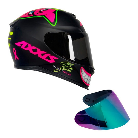 Capacete Axxis Eagle Ed Marianny 16 + Viseira Camaleão