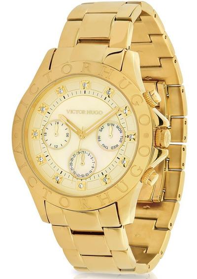 Relógio Victor Hugo Luxo Feminino - Vh10155lsg/54m