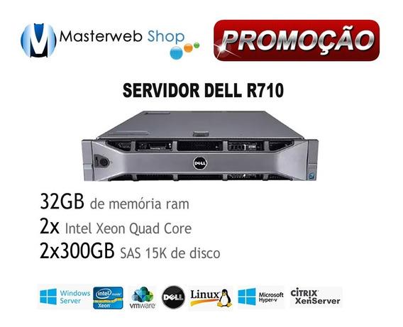 Servidor Dell R710 64gb + 2x Six + 600gb Hd + 1 Ano Garantia