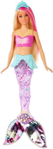 Muñeca Barbie Sirena Dreamtopia Sparkle Con Luces