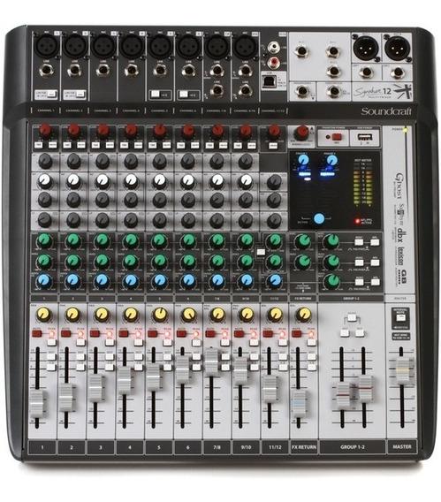 Mesa De Som Soundcraft Signature 12 Mtk Nf-e Garantia 1 Ano