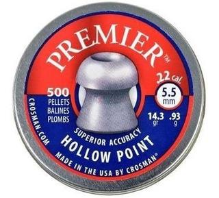 Postones De Caza Premier Hollow Point 5,5 Cacería 500 Uni.