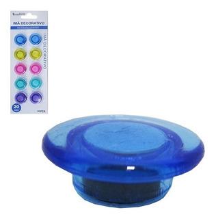 Kit 10 Imas Botton Para Painel Magnetico Fotos Geladeira Etc