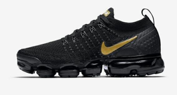 Ligadura diapositiva Adición  Nike Vapormax Negras Con Pipa Color Oro | Mercado Libre