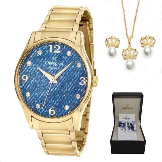 Relógio Champion Cn26975k Dourado