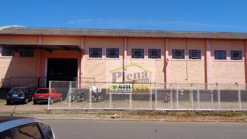 Barracão  Comercial Para Locação, Chácara Bela Vista, Sumaré. - Ba0154