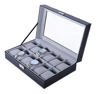 Bastuo 12 Caja De Reloj Para Hombre Reloj Grande Estuche ...