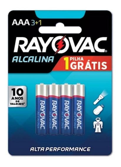 Pilha Aa Alcalina Pequena Rayovac 1.5v Cartela C/ 04 Dura +